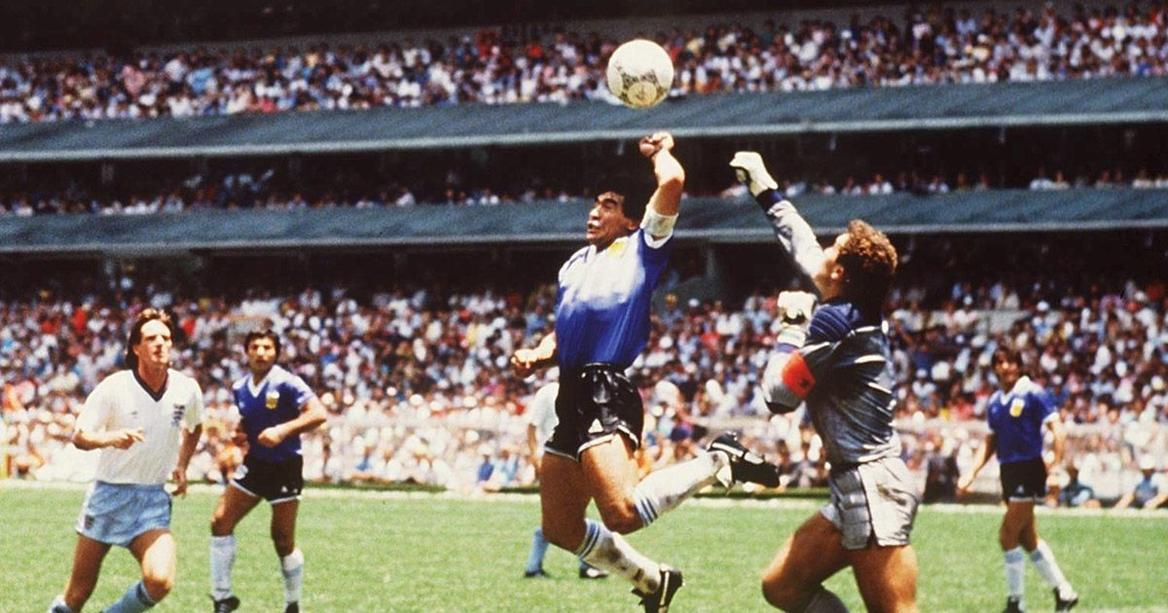 Diego Maradonas hand of God